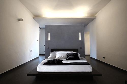 Tempat Tidur Minimalis Hitam Putih Cool